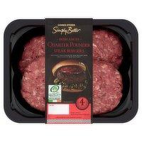 Dunnes Stores Simply Better 4 Irish Angus Quarter Pounder Steak Burgers 454g