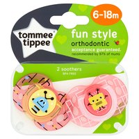 Tommee Tippee Fun Style 2 Orthodontic Soothers 6-18m