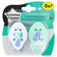 Tommee Tippee 2 Soother Holders 0m+