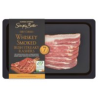 Dunnes Stores Simply Better Dry Cured Whiskey Smoked Irish Streaky Rashers 210g