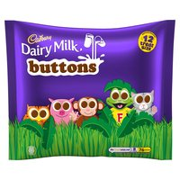 Cadbury Dairy Milk Buttons Chocolate 12 Treatsize Bags 170g