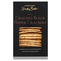 Dunnes Stores Simply Better Irish Cracked Black Pepper Crackers 120g