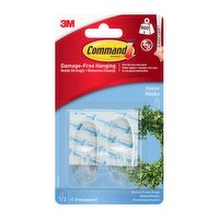 Command™ Medium Clear Hooks with Clear Strips 17091CLR-ES