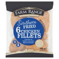 Farm Range 6 Southern Fried Chicken Fillets 750g