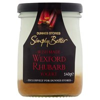 Dunnes Stores Simply Better Irish Made Wexford Rhubarb Yogurt 140g