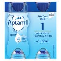 Aptamil 1 First Baby Milk Formula Multipack from Birth 4 x 200ml
