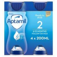 Aptamil 2 Follow On Baby Milk Formula Multipack 4 x 200ml