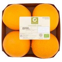 Dunnes Stores 4 Organic Unwaxed Citrus Orange