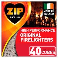 Zip High Performance Original Firelighters 40 Cubes