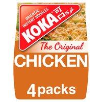 Koka The Original Chicken Flavour Oriental Instant Noodles 4 x 85g (340g)