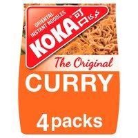 Koka The Original Curry Flavour Oriental Instant Noodles 4 x 85g (340g)