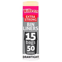 Killeen 15 Drawtight Swing Bin Liners 50 Litres