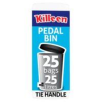 Killeen Tie Handle Pedal Bin Liners 25 Bags 25 Litres