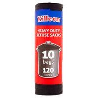Killeen 10 Heavy Duty Refuse Sacks 120 Litres