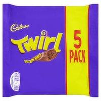 Cadbury Twirl Chocolate Bar 5 Pack 107.5g