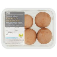 Dunnes Stores Growers Choice Vitamin D Mushrooms 200g