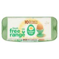 Golden Irish Fresh Free Range 10 Big Eggs for Breakfast 650g