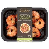Dunnes Stores Simply Better Warm Water Garlic & Seaweed Black Tiger Prawns 125g