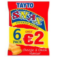 Tayto Snax Multipack Snacks 6 Pack Flashed €2 102g