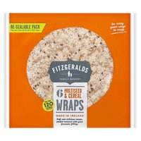 Fitzgeralds Family Bakery 6 Multiseed & Cereal Wraps 222g