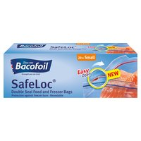 Bacofoil® SafeLoc® Double-Seal Food and Freezer Bags 20 Small