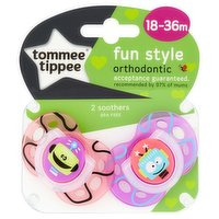 Tommee Tippee Fun Style 2 Orthodontic Soothers 18-36m