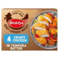 Birds Eye 4 Crispy Chicken in Tempura Batter 340g