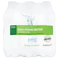 Dunnes Stores My Family Favourites Irish Spring Water Sparkling 9 x 500ml