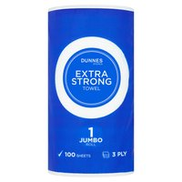 Dunnes Stores Extra Strong Towel Jumbo Roll 3 Ply 100 Sheets