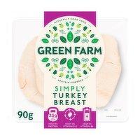 Green Farm Simply Turkey Breast Slices 90g