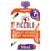 Piccolo Organic Sweet Potato & Beef Meatballs with Tomato & Herbs 130g From 7 Months+