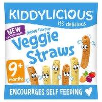 Kiddylicious Veggie Straws Cheesy Baby Snack 9 Months+ 12g