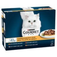 Gourmet Perle Connoisseurs Duo Cat Food Meat 12 x 85g