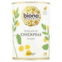 Biona Organic Chick Peas in Water 400g