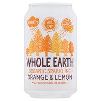 Whole Earth Organic Sparkling Orange & Lemon 330ml