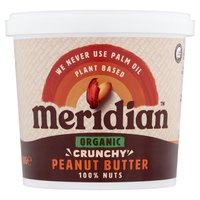 Meridian Organic Crunchy Peanut Butter 1kg