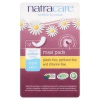 Natracare 12 Organic Cotton Cover Super Maxi Pads