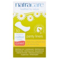Natracare 30 Panty Liners Curved