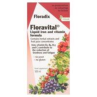 Floradix Floravital Liquid Iron and Vitamin Formula 500ml