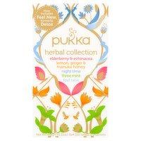 Pukka Organic Herbal Collection 20 Herbal Tea Sachets 34.4g