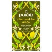 Pukka Organic Clean Matcha Green 20 Green Tea Sachets 30g