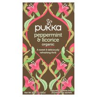 Pukka Organic Peppermint & Licorice 20 Herbal Tea Sachets 30g