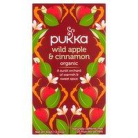 Pukka Organic Wild Apple & Cinnamon 20 Fruit Tea Sachets 40g