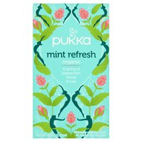 Pukka Organic Mint Refresh 20 Herbal Tea Sachets 40g