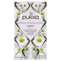 Pukka Organic Three Chamomile 20 Herbal Tea Sachets 30g