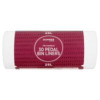 Dunnes Stores 30 Tie Handle Pedal Bin Liners 25L