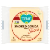 Follow Your Heart Smoked Gouda Style Dairy Free Cheese Alternative 10 Slices 200g