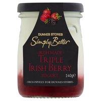 Dunnes Stores Simply Better Irish Made Triple Irish Berry Yogurt 140g