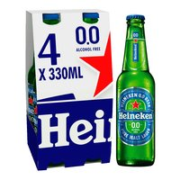 Heineken 0.0 Alcohol Free Lager 4 x 330ml