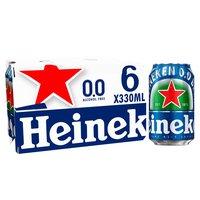 Heineken 0.0 Alcohol Free Lager 6 x 330ml